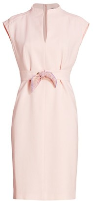 Max Mara Delfina Scarf Tie Sheath Dress