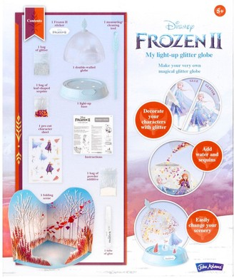 John Adams Disney Frozen II My Light Up Glitter Globe