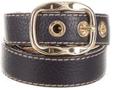 Dolce & Gabbana Leather Buckle Waist Belt