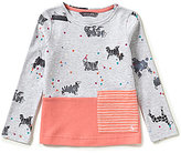 Joules Little Girls 3-6 Muddle Dog-Print Top