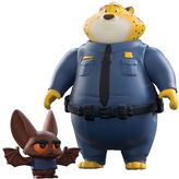 Tomy Disney's Zootopia Clawhauser & Bat Eyewitness Character Figure Set by