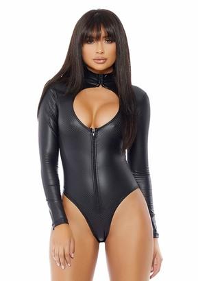 Forplay Women's Impure Leather Lingerie Bodysuit