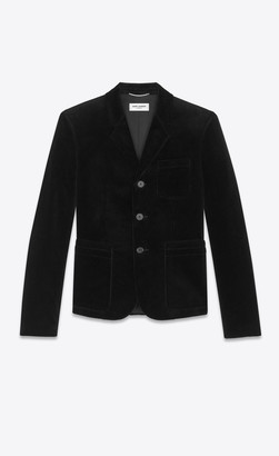 Saint Laurent Blazer Jacket Jacket In Corduroy Black 34