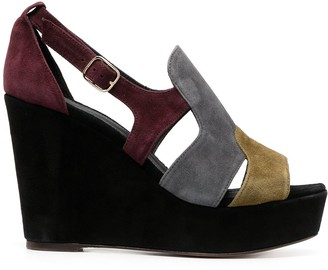 Tila March Utah colour-block wedge sandals