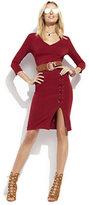 New York & Co. Lace-Up Sheath Dress
