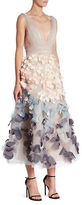 Marchesa Ombre Flutter Dress