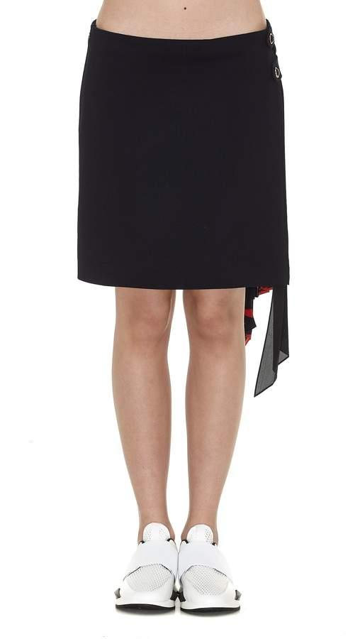 Givenchy Godet Plisse' Mini Skirt