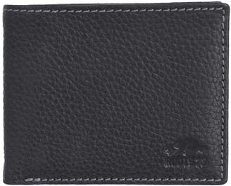 Roots 73 Slim RFID Leather Bi-Fold Coin Wallet