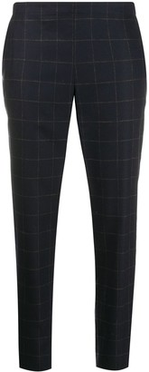 6397 Tapered Leg Checked Pattern Trousers