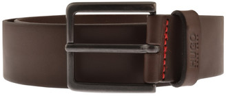 HUGO BOSS Gionio Leather Belt Brown