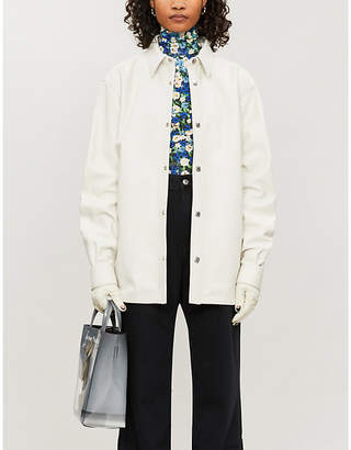Acne Studios Tracey button-up leather overshirt