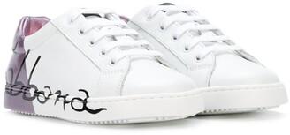 Dolce & Gabbana Two-Tone Logo Sneakers
