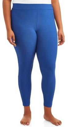Terra & Sky Women's Plus Size Sueded Full Length Legging