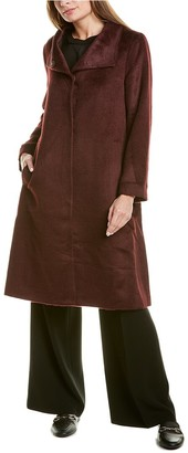 Eileen Fisher High Collar Alpaca & Wool-Blend Coat