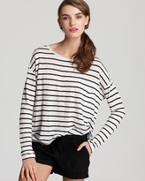 Vince Top - Stretch Striped Linen