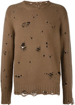 Takahiromiyashita The Soloist - destroyed jumper - men - Cashmere/Wool - 48