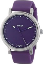 Timex Women's Elevated Classics T2N926 Silicone Quartz Watch with Dial