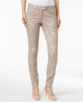 Alfani Petite Printed Straight-Leg Ankle Pants, Only at Macy's