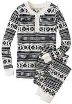 Kids Thermal Long John Pajamas In Organic Cotton