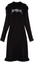 Vetements Ruffled-shoulder cotton-blend sweat dress