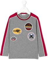 Dolce & Gabbana patches longsleeved T-shirt - kids - Cotton - 4 yrs