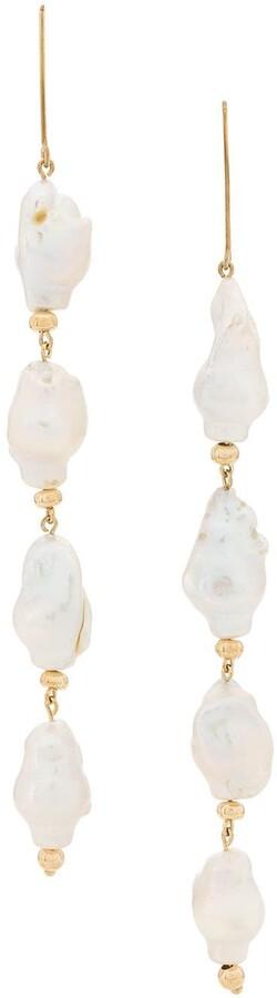 Apples & Figs Earpearl pendant earrings