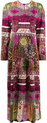 Valentino Floral Print Maxi Dress