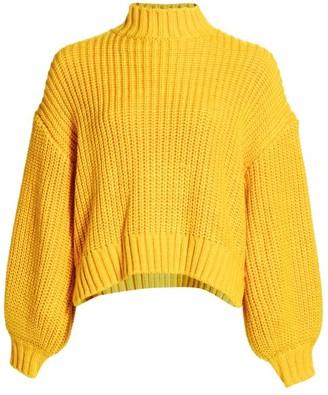 Cinq à Sept Haillie Long Puff-Sleeve Sweater