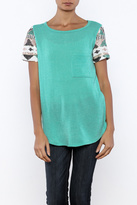 Style Rock Knit Sequin Sleeve Tee