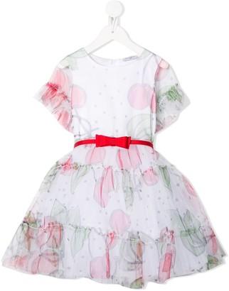 MonnaLisa cherry-print A-line dress