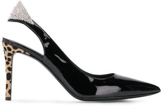 Giuseppe Zanotti leopard heel sling-backs