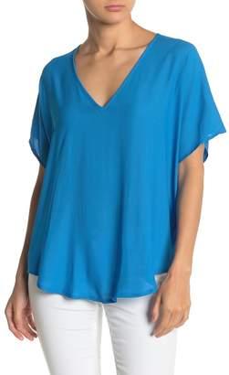 Lush Dolman Sleeve V-Neck T-Shirt