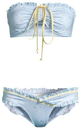 LoveShackFancy Jewel Floral 2-Piece Bikini Set
