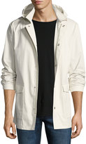 Brunello Cucinelli Detachable-Hood Zip-Front Coat, Beige