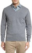 David Donahue Men's Cashmere V-Neck Sweater