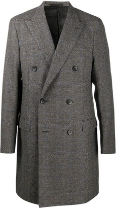 Lanvin Checked Double-Breasted Coat