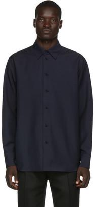 Jil Sander Navy Wool and Mohair Shirt