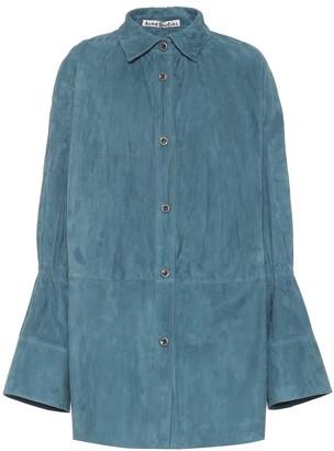 Acne Studios Suede blouse