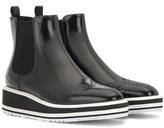 Prada Chelsea patent leather platform ankle boots