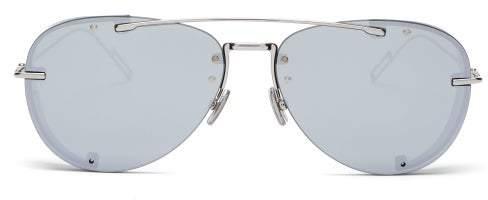 Christian Dior Sunglasses - Diorchroma1 Aviator Sunglasses - Mens - Silver