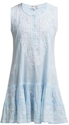 Juliet Dunn Sleeveless Cotton Dress - Womens - Light Blue