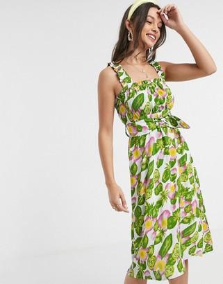 Faithfull The Brand Faithfull mae floral sleeveless midi dress with belt