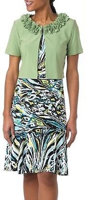 Taylor Dresses Women's Plus-Size Multi Patchwork Sheath