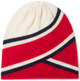 Madeleine Thompson Anastasia Striped Cashmere Beanie - Red