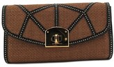 Sergio Rossi Borse Rodeo + Strw Clutch Leather Clutch.