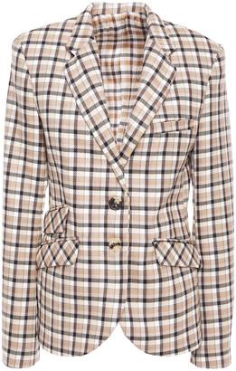 Paco Rabanne Checked Wool Blazer