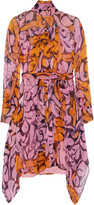 Miu Miu Printed silk-chiffon mini dress
