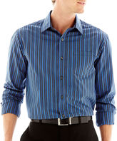 Claiborne Striped Long-Sleeve Button-Front Shirt