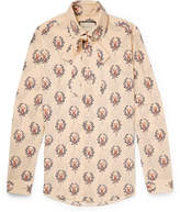 gucci slim fit penny collar printed silk crepe shirt herren. Black Bedroom Furniture Sets. Home Design Ideas