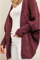 Entro Cable Sweater Cardi